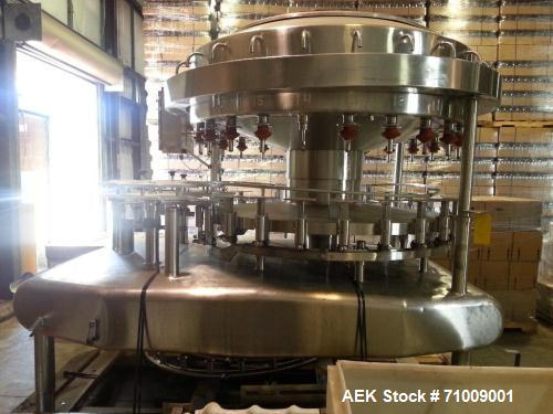 Used-Federal 24 Valve Rotary Filler.  Originally designed to run hot fill juice products.  Has change parts for quart, 64 oz...