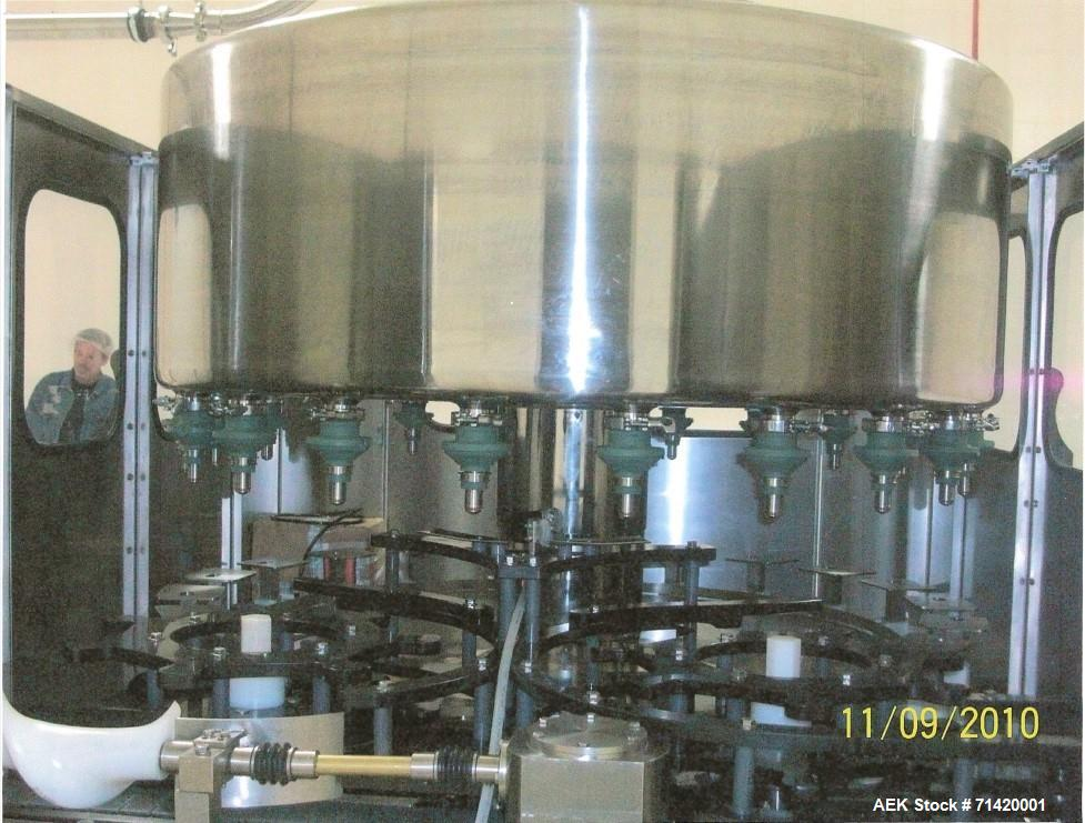 Used- Filler Specialties GWFS-21 Head Rotary Filler. Gravity fill-to- level with overhead fille bowl, with  EMV External Mou...