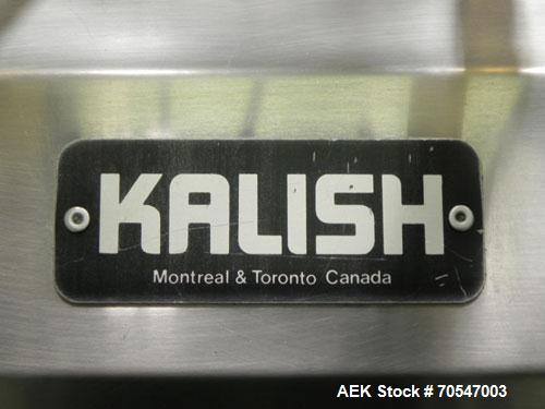 Used- Kalish Model 500012 Electronic Time Pressure Gravity Filler