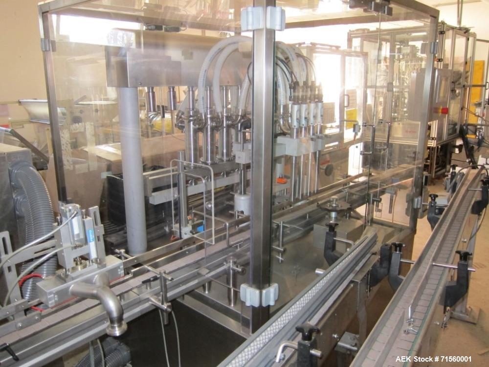 Used- Kugler Fully Automatic Filling Machine Type Linofill. Controlled up to 30 cycles / min. The effective capacity depends...