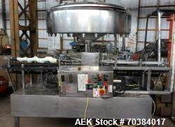 Used- Fogg Rotary Gravity Filler. Last set for hot fill juice. Right to left operation on stainless base. Includes multiple ...