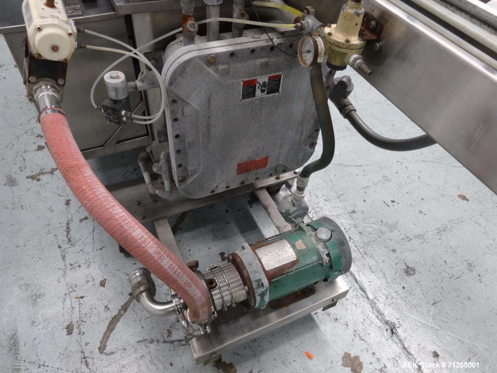 Used- MRM Model GRC-A Straight Line Pressure Overflow Liquid Filler