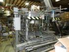 Used-Biner Ellison Rotary Gravity Pressure Filler.  Last running wash and wax products.
