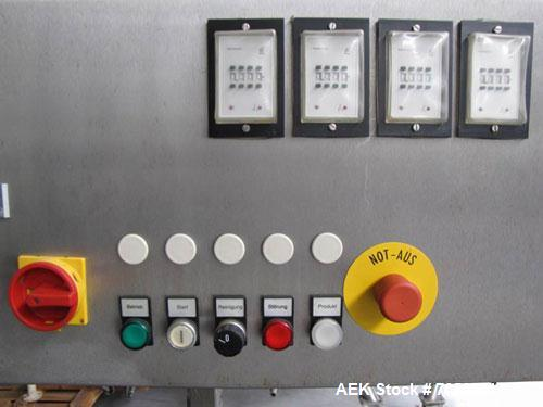 Used-Wilhelm Will FF1 Liquid Filling Machine.  4 Stations, time controlled for 0.001 - 9.999 s (valve control), object diame...