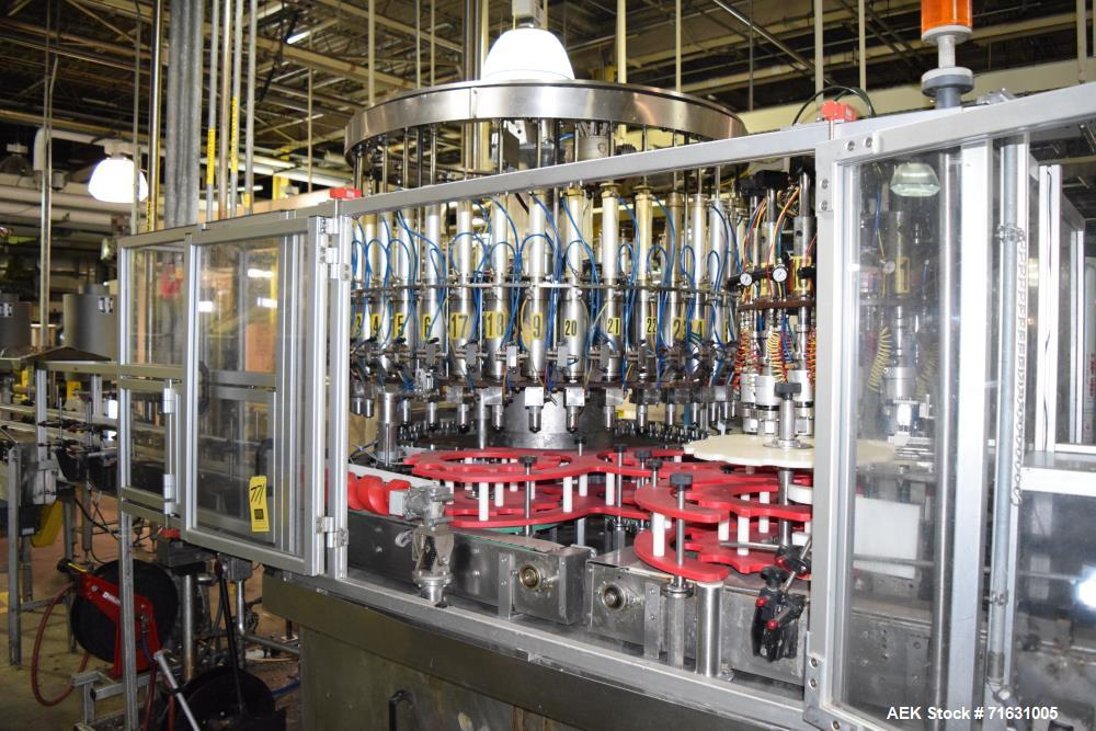 Used-Ronchi 40-Head Bottle Filler with 16-Head Capper, S/N 1057 with Timing Screen, Conveyor Section Only *Incomplete contro...