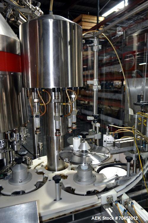 Used- Capmatic EKLIPS 18/6 Monoblock Liquid Filler & Screw Capper