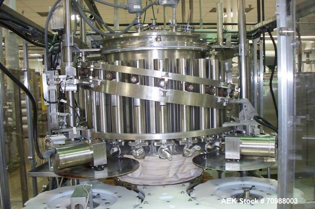 Used- Consolidated 21 Head Rotary Piston Filler.