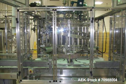 Used- Consolidated 21 Head Consolidated Rotary Piston Filler. Sanitary Model# RP