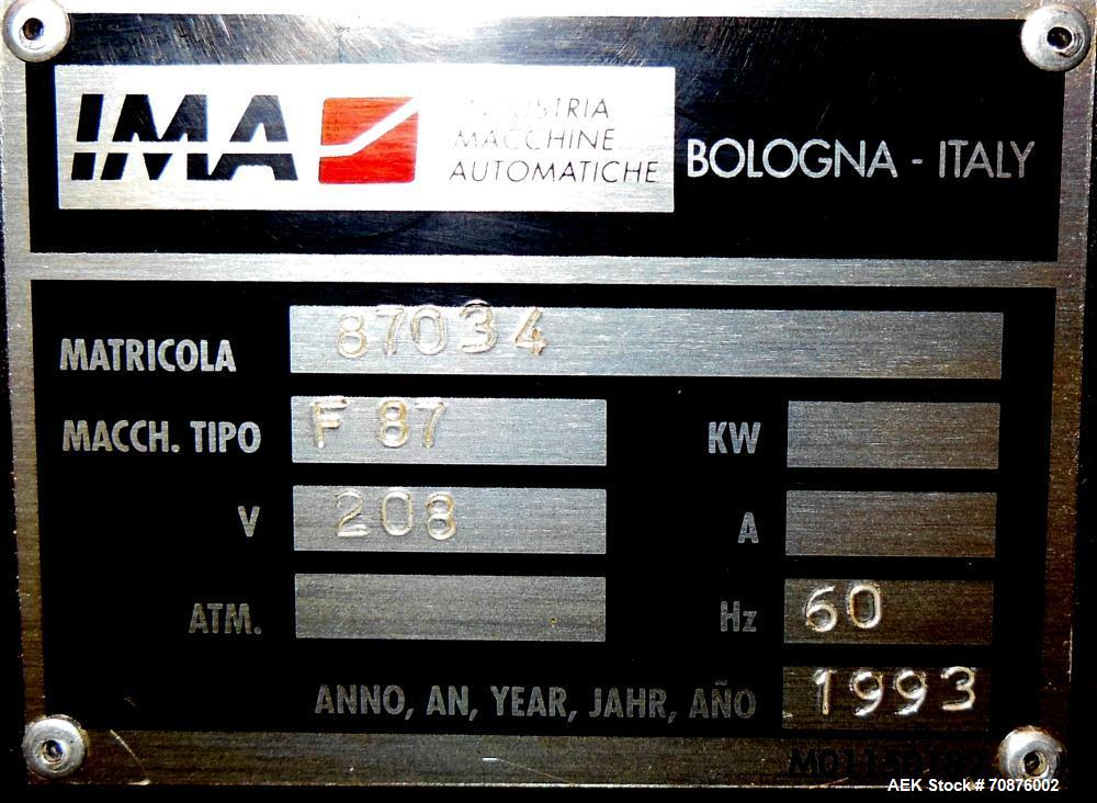 Used- IMA Farmomac Model F87 Liquid Monoblock Filler and Capper