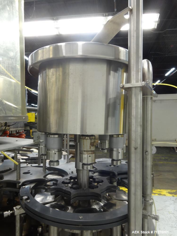 Used- Federal Manufacturing Co. Model GWSS6/26.8 Rotary Filler and Capper