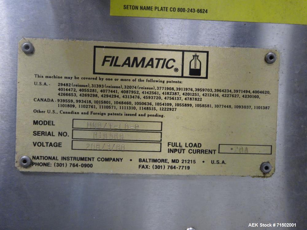 Used- Filamatic Model MNB/P-LD Monoblock E Cigarette Filler Tipper and Capper