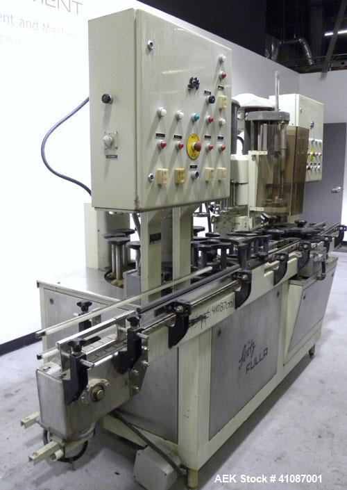 Used- Seitz (KHS Filling) Monoblock 12 Head Rotary Wine Filler and Corker, Model