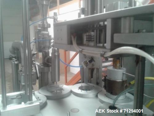 Used- Ilpra FS 2000 Filler. Equipped with (2) Filling stations, (1) Liquid filler sealer for pre formed packing (yogurt,sauc...