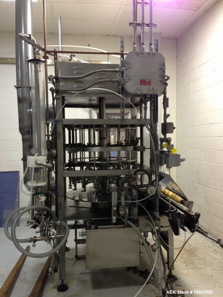 Used- JG Machine 18 Head Rotary Vacuum Pocket Filler. Production rates up to 80 cpm(depending on size and material filled). ...