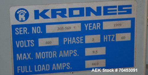 Used- Krones 28 Head Model VV 28-107 Vacufill Rotary Vacuum Filler