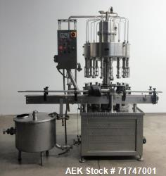 Used- GAI Model 6200 16-Head Rotary Vacuum Filler