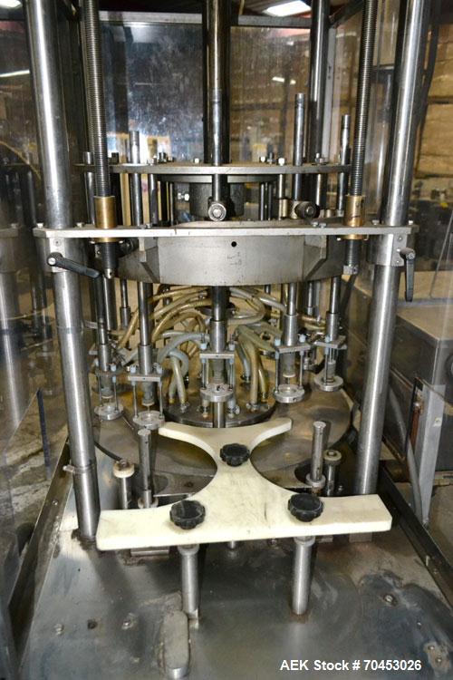 Used- MRM/Elgin 12 Head Rotary Vacuum Filler