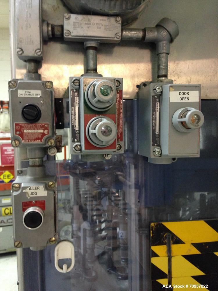 Used-RJM 16 Head Rotary Vacuum Pocket Filler