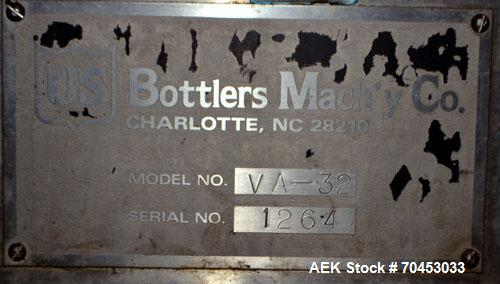 Used- US Bottlers VA-32 Rotary Vacuum Filler chassis, not equipped with nozzles or change parts. SELLING PRICE AS IS, WHERE ...