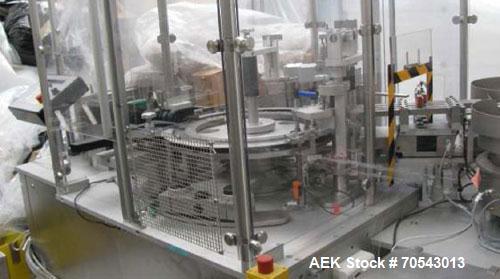 Used-Bausch & Strobel FFV 4010 Liquid Filler.  Maximum output 12,000 vials per hour, maximum vial diameter 36 mm, maximum vi...