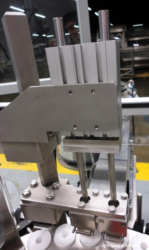 Used- Comas Plastic Dispensing Syringe Monoblock Filling System, Model FD120, speeds up to 60 syringes/minute. Dual station ...