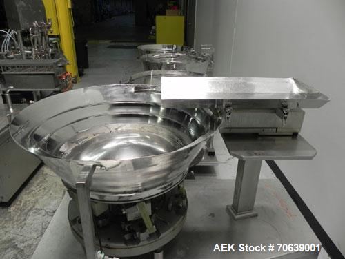 Used- Groninger Syringe Filling Line, stainless steel on product contact parts. Line consists of model DFVK4000S inline (4) ...