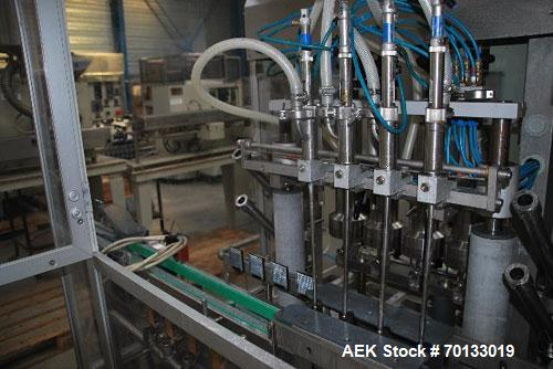 Used-Groninger KFVG 4211 Liquid, Semi-Liquid and Foam Inline Filling Line for glass and plastic vials
