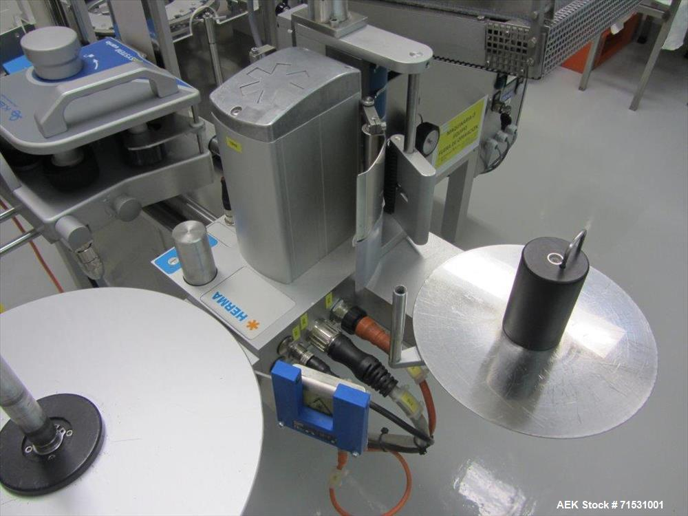 Used- Complete Filling Line. Sterile dose ampoules. Includes the following equipment: Rota ampoule filler and sealing machin...