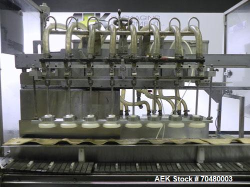 Used- Cozzoli Inline Continuous Motion Walking Beam Style Piston Filler