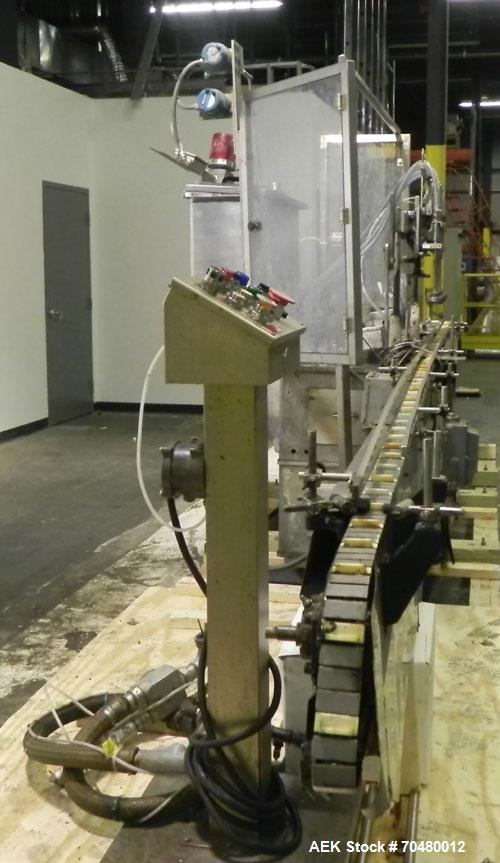 Used- Cozzoli Inline Continuous Motion Walking Beam Style Piston Filler, Model L