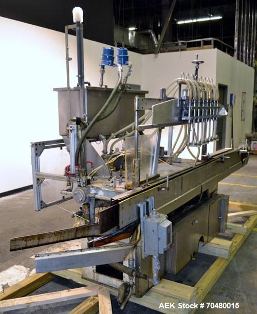 Used- Cozzoli Inline Continuous Motion Walking Beam Style Piston Fille, Model LF