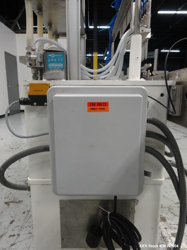 Used- Cozzoli Model VR-840-8 Inline Piston Filler