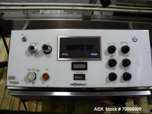 Used- Cozzoli 8 Head Inline Piston Filler Model VR840Q