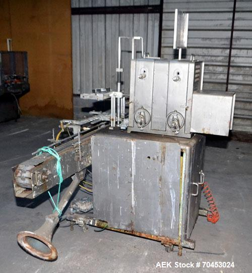 Used- Filamatic DAB-16-4 Inline Piston Filler capable of speeds from 3 to 40 containers per minute. Fill size range: 3cc to ...