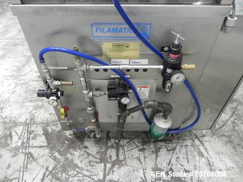 Used- Filamatic Model H-730-CE-8 Closed Environment Piston Filler