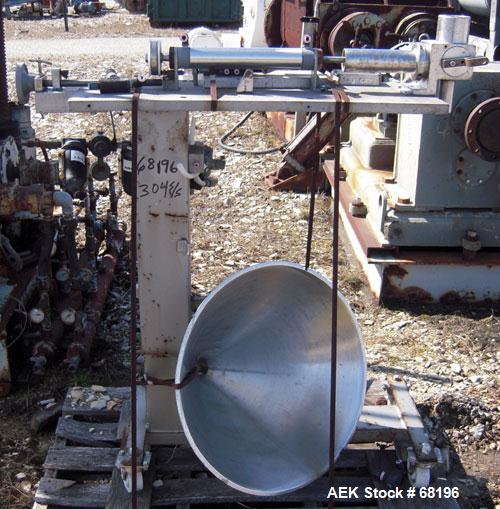 "Used- Piston Filler, single head ,304 stainless steel contact parts. Cylinder measures 2"" diameter x 7"" long, 1 1/2 diameter..."