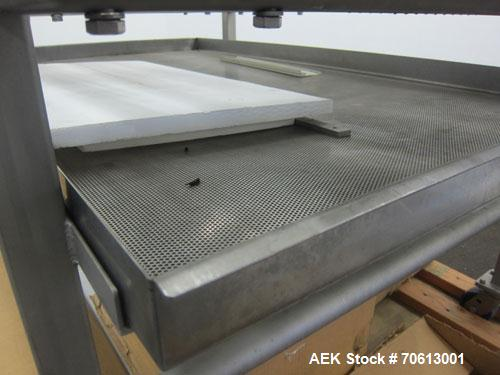 Used- KOFAB Egg Depositer System, 304 Stainless Steel. (1) 25 Head filling station consisting of (4) 5 head manifolds on app...
