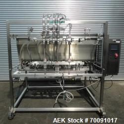 Unused- Inline Filling Systems 8 Head Servo Activated Piston Filler, Model FP8. New 2010. The automatic piston filling syste...