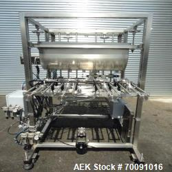 Used- Inline Filling Systems 4 Head Straight Line Piston Filler with Air Rinse Option. This automatic piston filling system ...