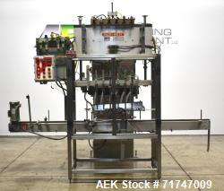 Used- Pack West Model 6BPF-QT-RF-RL-CT (6)-Head Inline Piston Filler