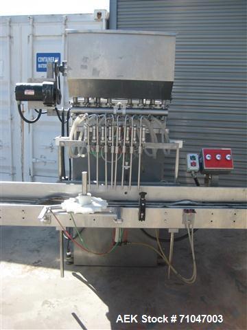 Used- PackWest Model 8BPF-RF-P-SW-RL inline piston filler