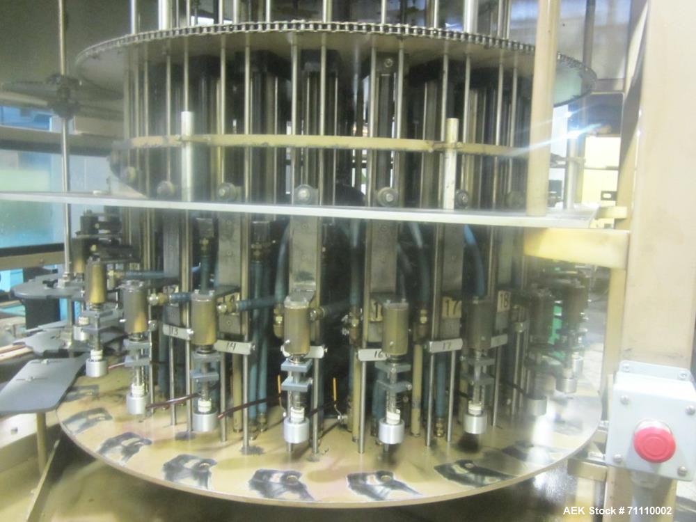 Used- Laub 24 Station Liquid Filler, Model 92F6224.