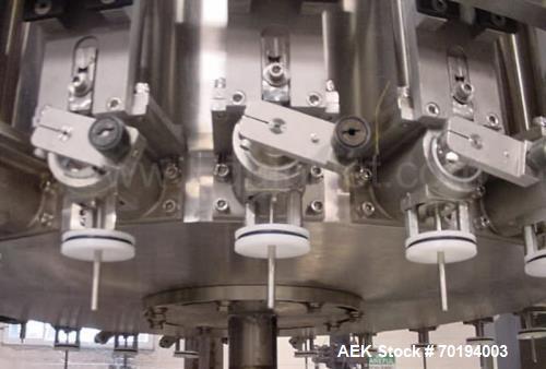 Used- MRM/Elgin 24 Head Rotary Piston Filler, Model RPF-24. All stainless steel sanitary pharmaceutical grade design. 24 ver...