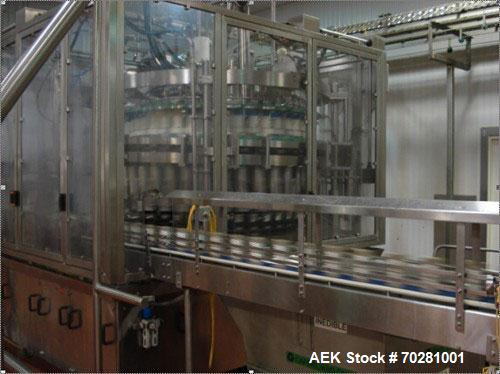 Used- Zilli Bellini Model DD40 40 Head Stainless Steel Piston Filler capable of speeds up to 400 cpm. Fill range from 4 oz t...