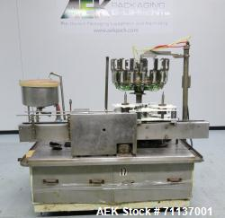 Used- Pacific 16-Head Positive Displacement Rotary Liquid Filler