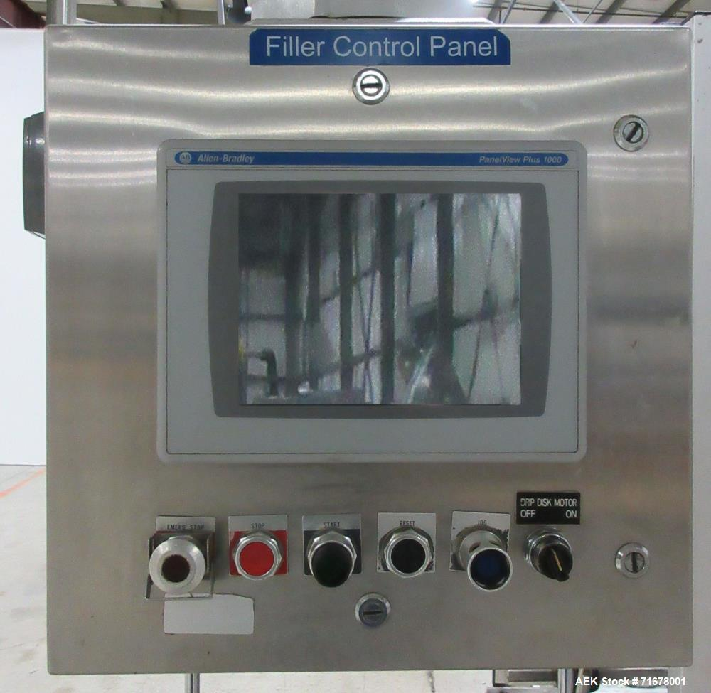 Used- Pacific Model V-18-T-31.000 18-Head Rotary Cavity Filler