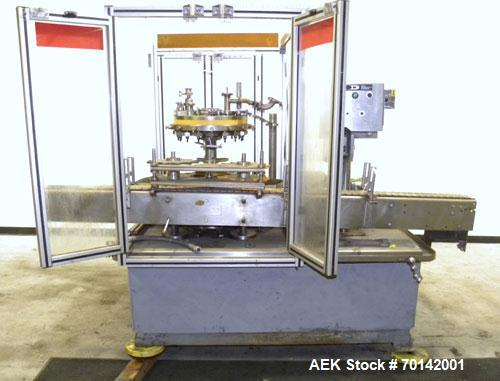 Used- Pacific Packaging Machinery 16 Head Rotary Positive Displacement Filler
