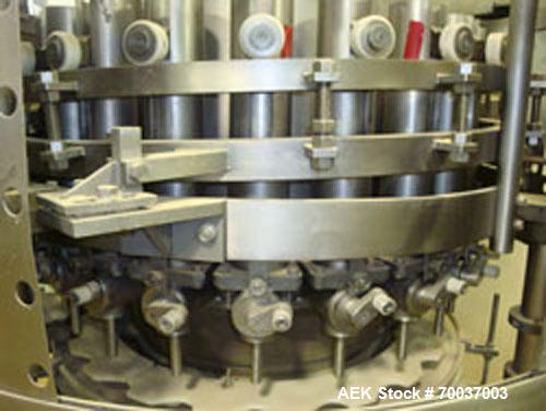 Used-Elmar Model RPE521T 21 head piston filler. Previously used for garlic butter. 6 oz jar change parts. Stainless steel fr...