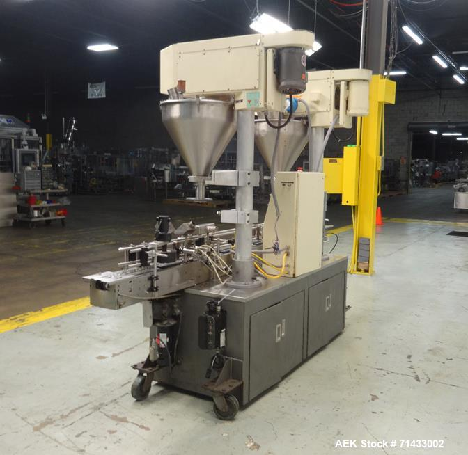 Used- All Fill Model 100141 DHA Dual Head Automatic Inline Auger Filler