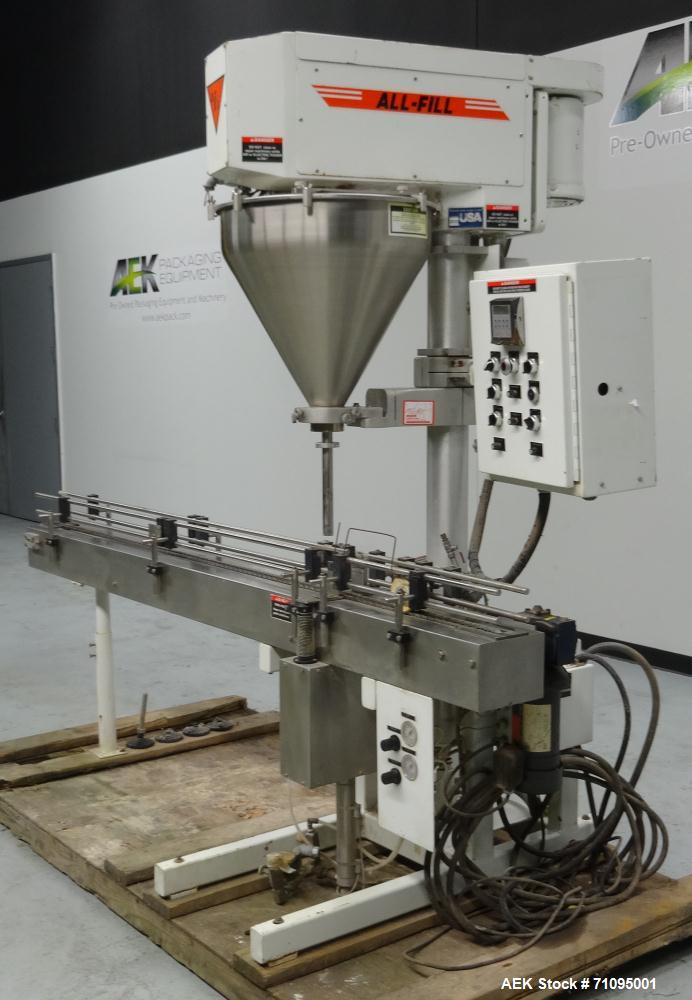 Used- All-Fill Model SHA Automatic Inline Auger Filler